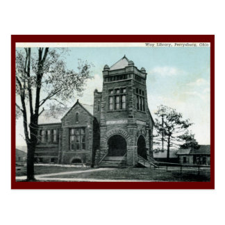 Way Library, Perrysburg, OH Vintage Post Card