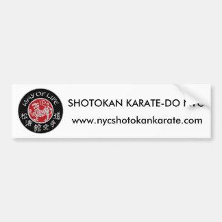 Way Of Life Shotokan Dark Logo Bumper Sticker