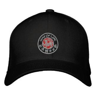 Way Of Life Shotokan Dark Logo Flex Fit Cap Embroidered Baseball Cap