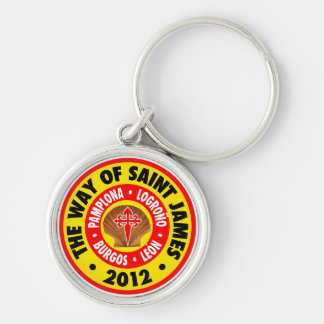 Way of Saint James 2012 Silver-Colored Round Keychain