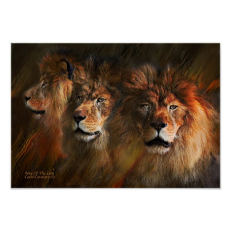 Way Of The Lion Art Poster/Print