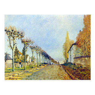 Way of the machine, at Louveciennes by Sisley Postcard