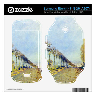 Way of the machine at Louveciennes by Sisley Samsung Eternity II Decal