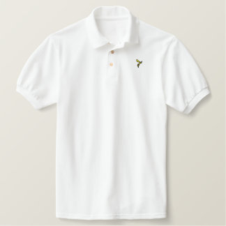 Way of the WASP embroidered polo (black & yellow)