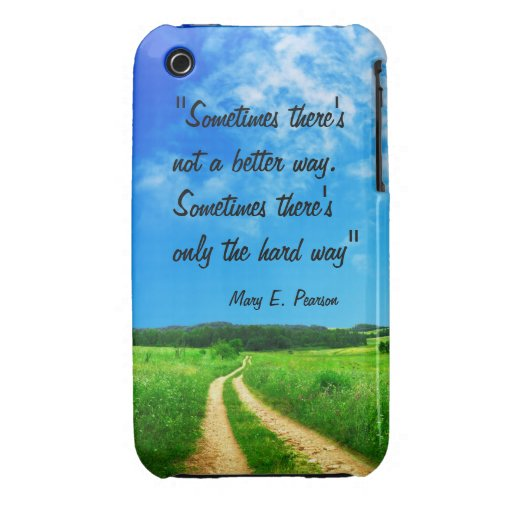 Way quote inspiration hope nature background iPhone 3 Case-Mate case