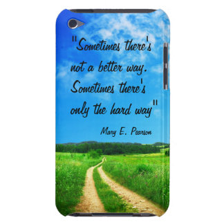 Way quote inspiration hope nature background iPod Case-Mate case