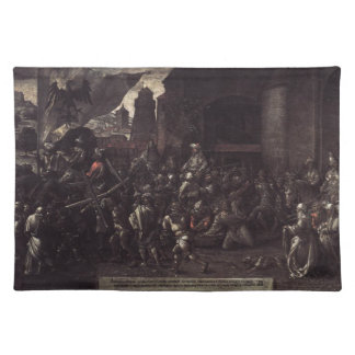 Way to Calvary by Albrecht Durer Cloth Placemat
