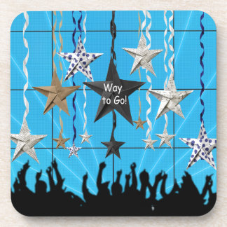Way to Go!, Stars Hanging with Ribbon, Crowd Silho Coaster