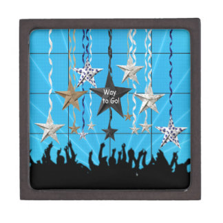 Way to Go!, Stars Hanging with Ribbon, Crowd Silho Gift Box