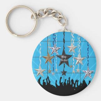 Way to Go!, Stars Hanging with Ribbon, Crowd Silho Keychain