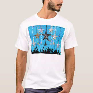 Way to Go!, Stars Hanging with Ribbon, Crowd Silho T-Shirt