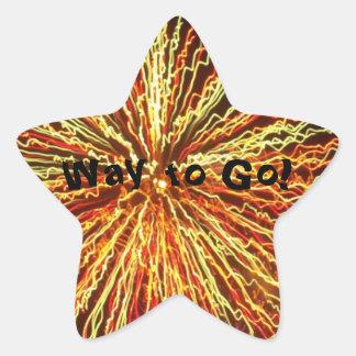 Way to Go!!! Star Sticker