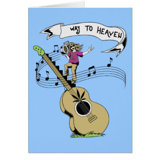 Way To Heaven ~ 60s Hippie Peace Sign Card