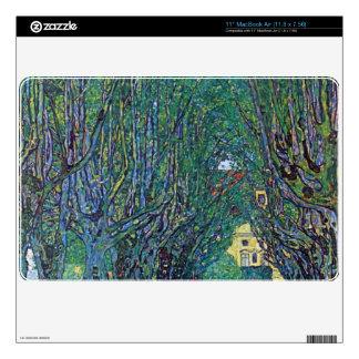 Way to the Park by Gustav Klimt MacBook Decals