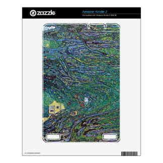 Way to the Park by Gustav Klimt Kindle 2 Decals