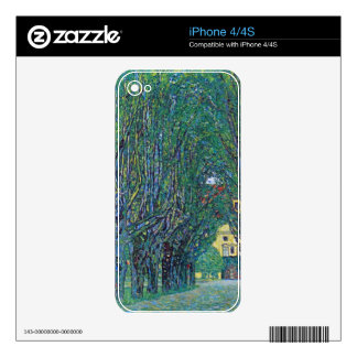 Way to the Park by Gustav Klimt iPhone 4 Skins