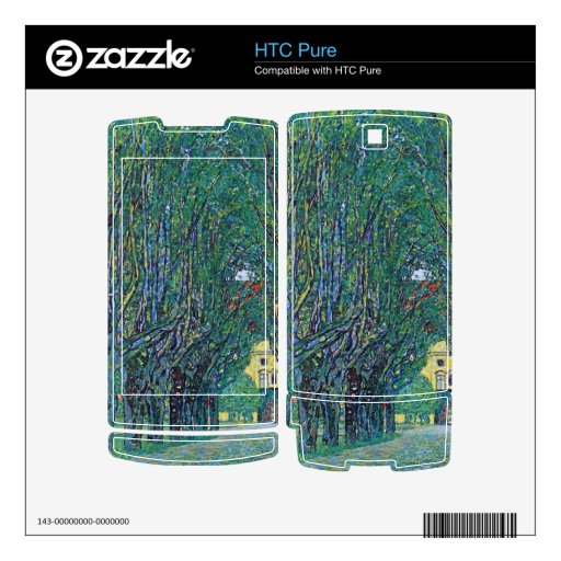 Way to the Park by Gustav Klimt Skin For HTC Pure