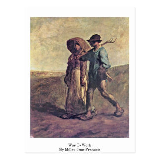 Way To Work By Millet (Ii) Jean-Francois Postcard