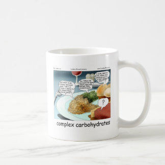 Way Too Complex Carbohydrates Funny Gifts & Tees Coffee Mug