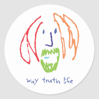 way truth life classic round sticker