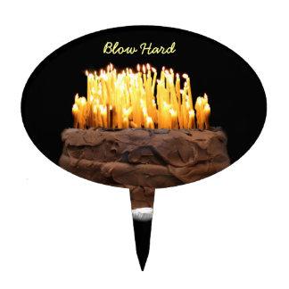 Way way over the hill birthday cake picks