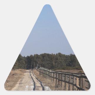 way with fence triangle sticker