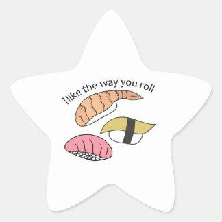 Way You Roll Star Sticker