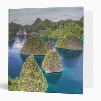 Wayag Island landscape, Indonesia 3 Ring Binder