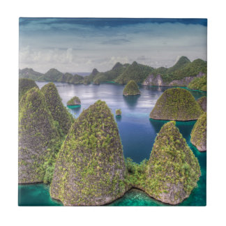Wayag Island landscape, Indonesia Ceramic Tile