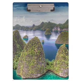 Wayag Island landscape, Indonesia Clipboard