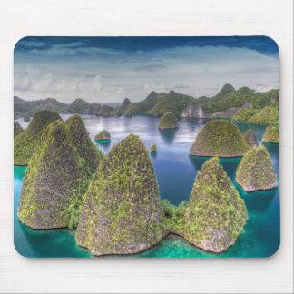Wayag Island landscape, Indonesia Mouse Pad