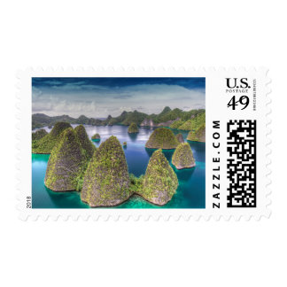 Wayag Island landscape, Indonesia Postage
