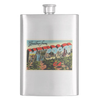Waycross Georgia GA Old Vintage Travel Souvenir Flask