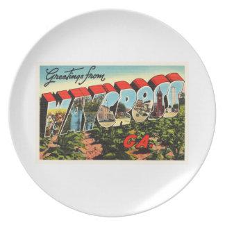 Waycross Georgia GA Old Vintage Travel Souvenir Plate