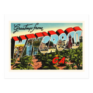 Waycross Georgia GA Old Vintage Travel Souvenir Postcard