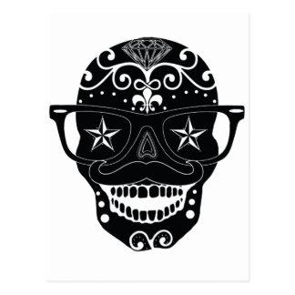 Wayfarer Sugar Skull Design Postcard