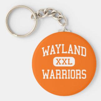 Wayland - guerreros - alto - Wayland Massachusetts Llavero Redondo Tipo Pin