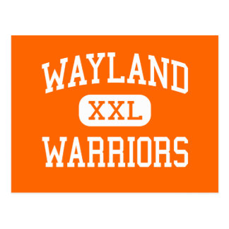 Wayland - Warriors - High - Wayland Massachusetts Postcard