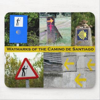 Waymarks del Camino de Santiago Mousepad