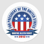 Wayne Allyn Root Round Stickers
