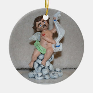 Wayne, Cherub of Heartbreak and Disenchantment Christmas Tree Ornament
