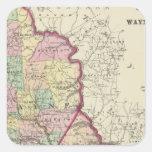 Wayne, condados de Pike Pegatina Cuadrada