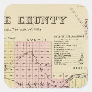 Wayne County, Nebraska Stickers