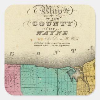 Wayne County Square Stickers