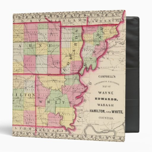 Wayne, Edwards, Wabash, Hamilton, White counties 3 Ring Binder