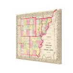 Wayne, Edwards, Wabash, Hamilton, White counties Gallery Wrapped Canvas