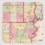 Wayne, Edwards, Wabash, Hamilton, White counties Square Sticker