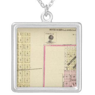 Wayne, Nebraska Square Pendant Necklace