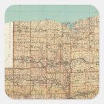 Wayne, Ontario, Yates, condados del Seneca Pegatina Cuadrada