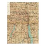 Wayne, Ontario, Yates, condados del Seneca Tarjeta Postal